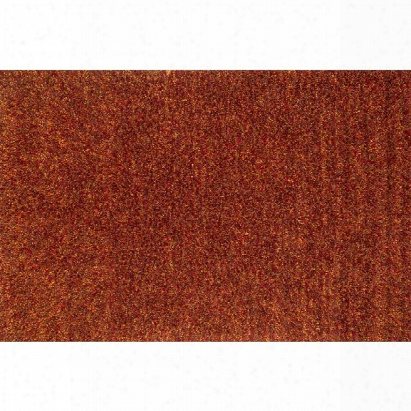Loloi Dion 7'6 X 9'6 Hand Woven Shag Rug In Rust
