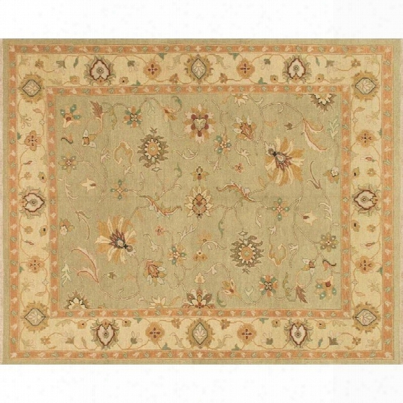 Loloi Laurent 9'6 X 13'6 Hand Knotted Wool Rug In Sage And Gravel
