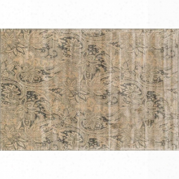 Loloi Nyla 5' X 7'6 Power Loomed Rug In Cream And Slate