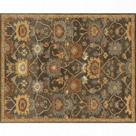 Loloi Underwood 9'3 X 13' Wool Rug In Charcoal And Gold