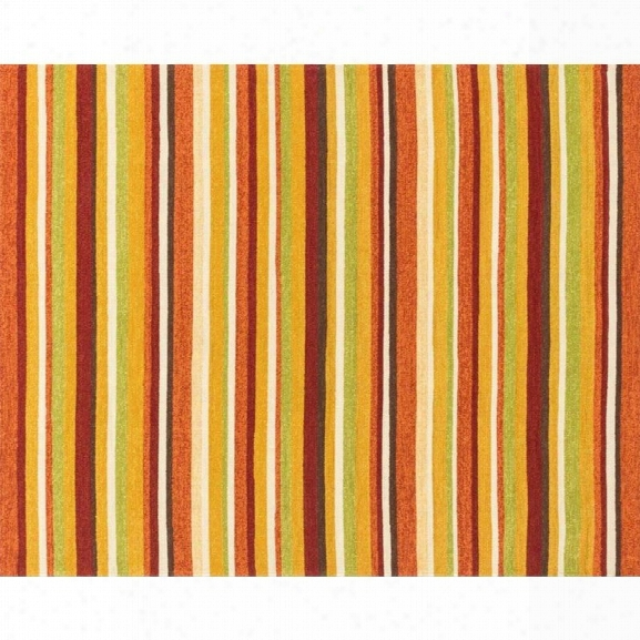 Loloi Venice Beach 9'3 X 13' Hand Hooked Rug In Sunset