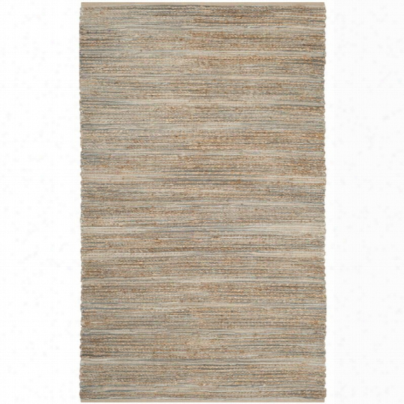 Safavieh Cape Cod 11' X 15' Hand Woven Jute And Cotton Rug In Blue