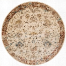 Loloi Anastasia 9'6 Round Rug in Ant Ivory and Rust