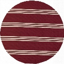 Momeni Veranda 9' X 9' Round Rug in Red