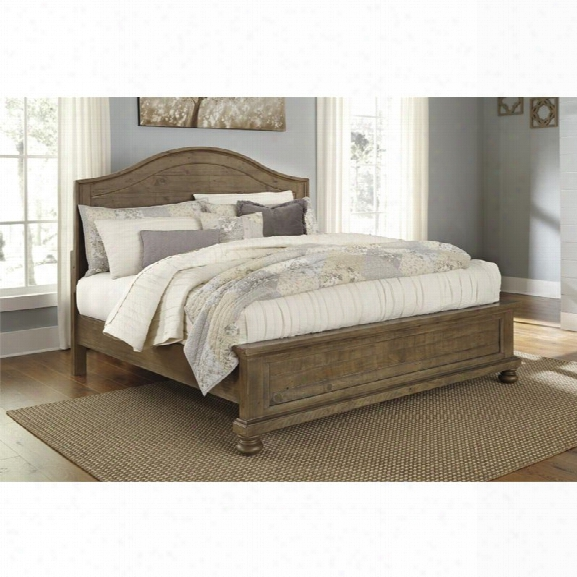 Ashley Trishley King Panel Bed In Light Brown
