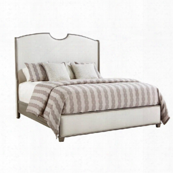 Coastal Living Oasis-solstice Canyon Shelter Bed King Size In Grey Birch