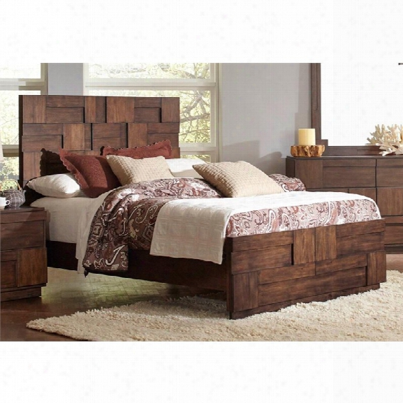 Coaster California King Panel Bed In Golden Brown