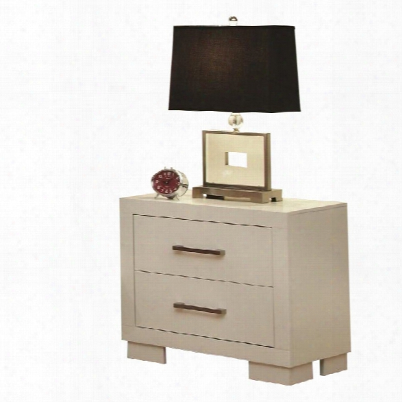 Coaster Jessica Nightstand With Panel In White (set Of 2)