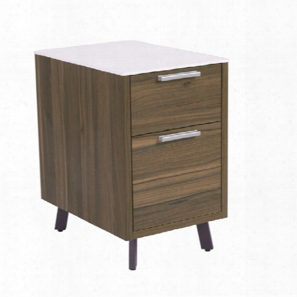 Eurostyle Hart 2 Drawer File Cabinet In White