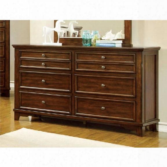 Furniture Of America Alred 6 Drawer Dresser In Cherry