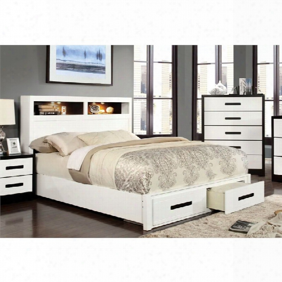 Furniture Of America Dimartino California King Storage Bookcase Bed