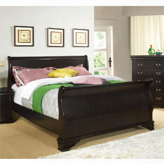 Furniture Of America Easley California King Sleigh Bed In Espresso