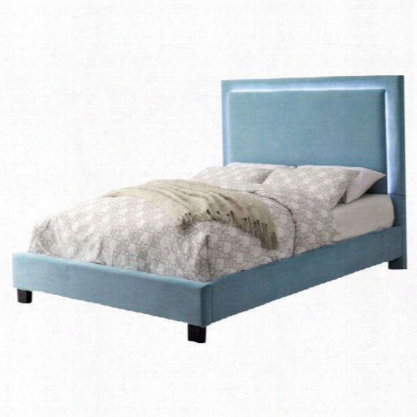 Furniture Of America Luna King Led Bed In Blue