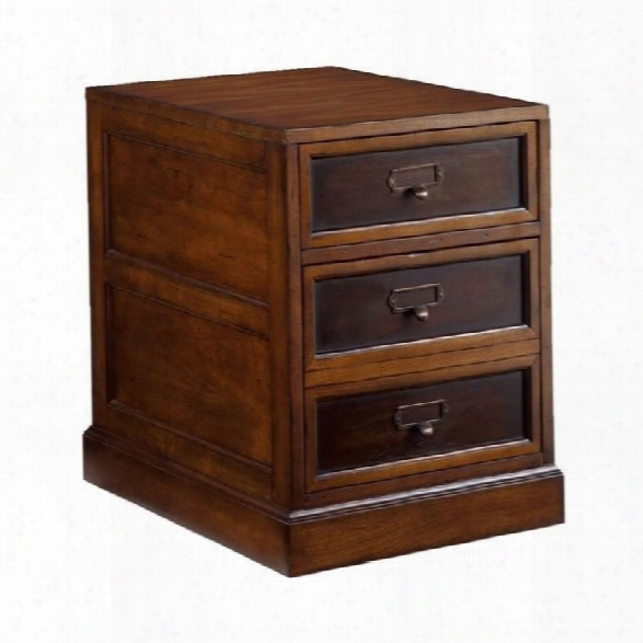 Hammary Mercantile Mobile 2 Drawer File Cabinet In Whiskey Finish