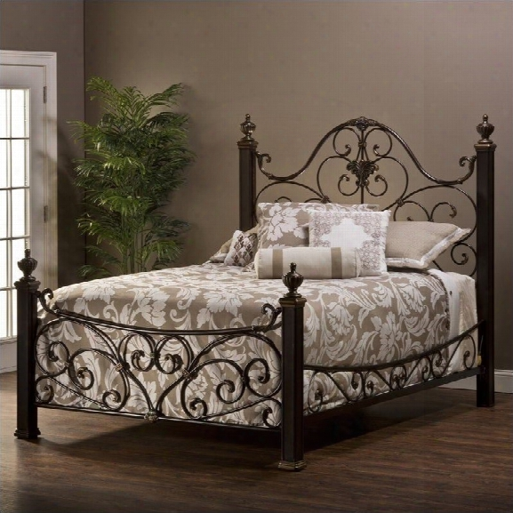 Hillsdale Mikelson Bed In Aged Antique Gold-queen