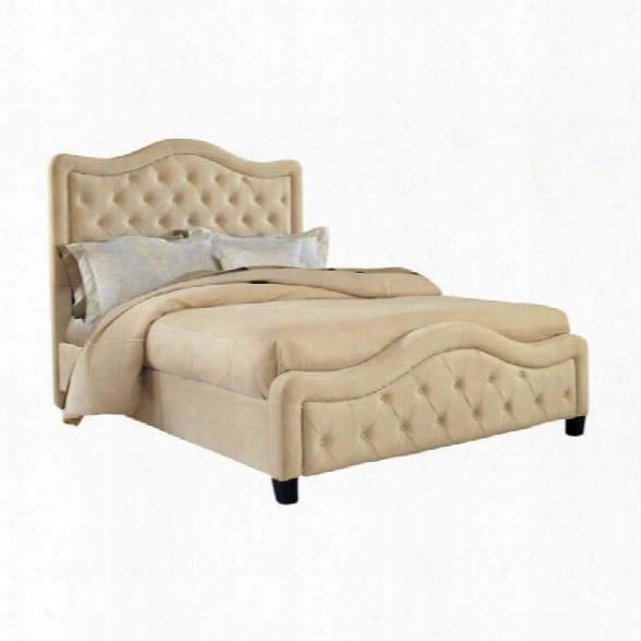 Hillsdale Trieste Fabric Bed In Buckwheat-queen