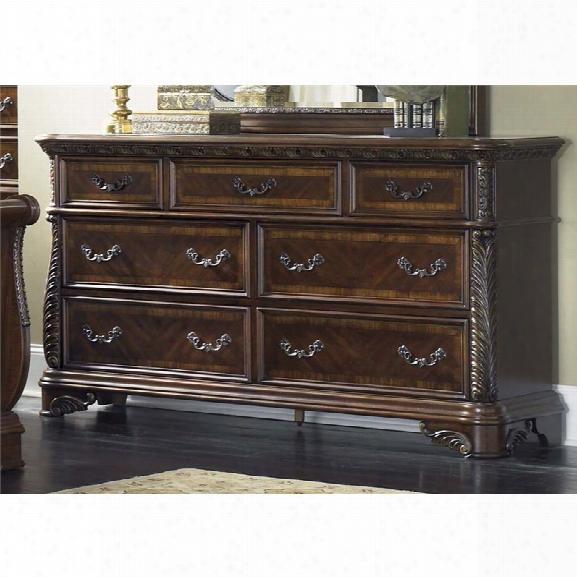 Liberty Furniture Highland Court 7 Drawer Dresser In Rich Cognac