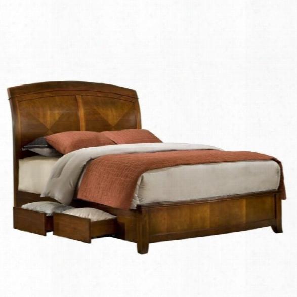 Modus Brighton Wood Storage Bed In Cinnamon-queen