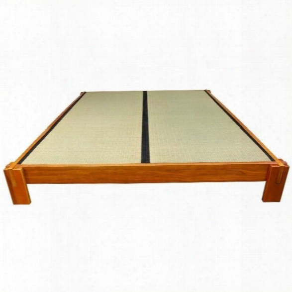 Oriental Furniture Tatami Platform Bed In Honey-california King