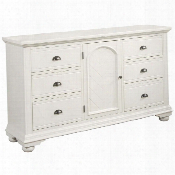 Picket House Furnishings Addison 6 Drawer Door Dresser In White