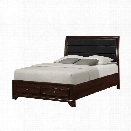 Coaster Jaxson California King Upholstered Bed with Drawers