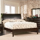 Coaster Phoenix Upholstered Platform Bed in Cappuccino Finish-Queen