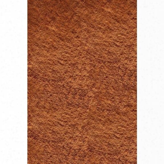 Momeni Luster Shag 9' X 12' Rug In Tangerine