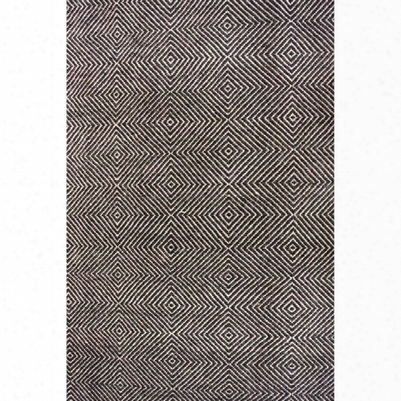 Nuloom 10' X 14' Hand Woven Ago Rug In Black