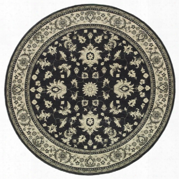 Oriental Weavers Richmond 7'10 Round Machine Woven Rug In Charcoal