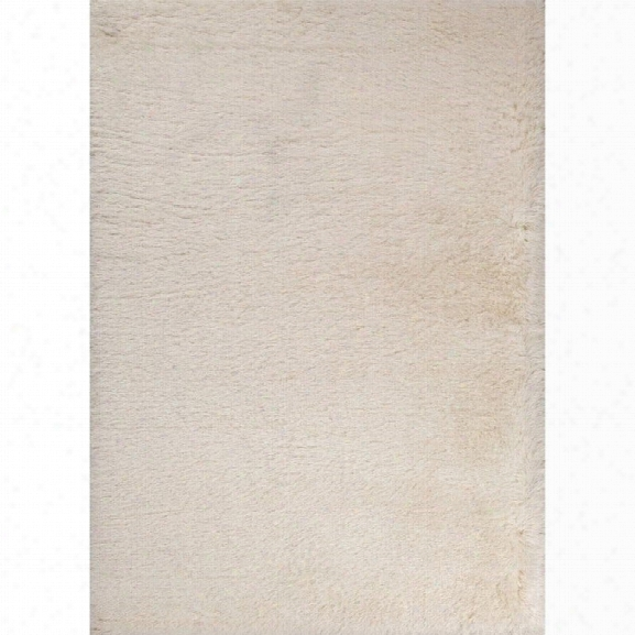 Jaipur Rugs Marlowe 9' X 12' Shag Polyester Rug In Ivory And White