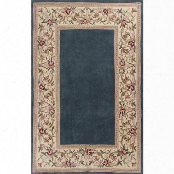 Kas Ruby 8' X 10'6 Hand-tufted Wool Runner Rug In Slate Blue
