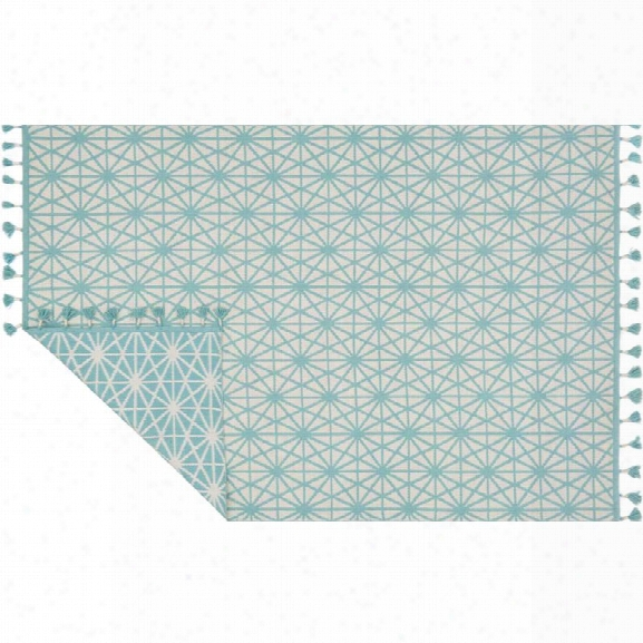 Loloi Kahelo 9'3 X 13' Contemporary Hand Made Rug In Ivory And Aqua