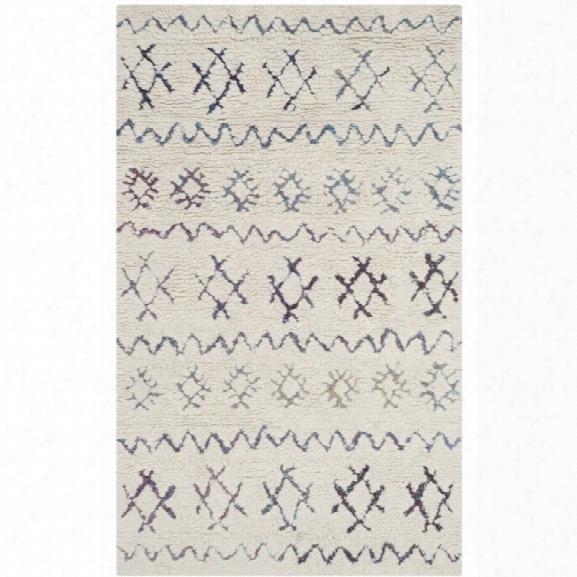 Safavieh Casablanca Shag 6' X 9' Hand Woven Rug In Ivory