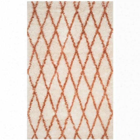 Safavieh Kenya 9' X 12' Hand Knotted Rug In Ivory And Terracotta