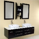 Fresca Stella Bellezza Bathroom Vanity in Espresso-Tolerus in Chrome