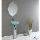 Fresca Vetro Vitale Glass Bathroom Vanity Set in Aqua-Soana in Brushed Nickel