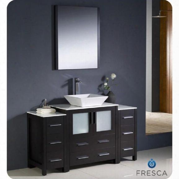 Fresca Torino 54 Bathroom Vanity In Espresso-tolerus In Chrome