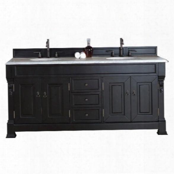 James Martin Brookfield 72 Double Bathroom Vanity In Black-2ccm Absolute Black Rustic