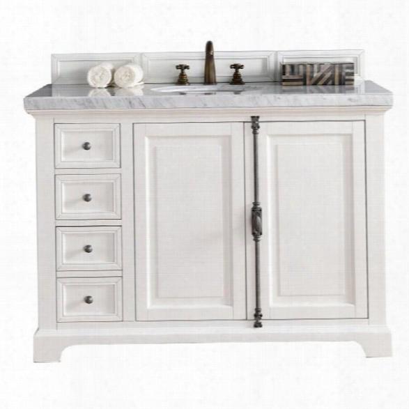 James Martin Providence 48 Single Bathroom Vanity In White-2cm Galala Beige
