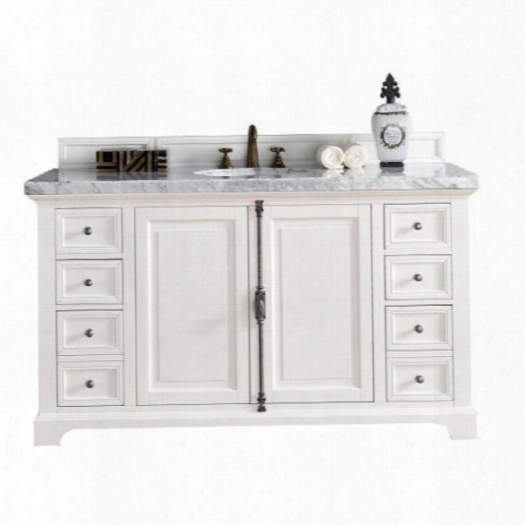 James Martin Providence 60 Single Bathroom Vanity In White-4cm Galala Beige
