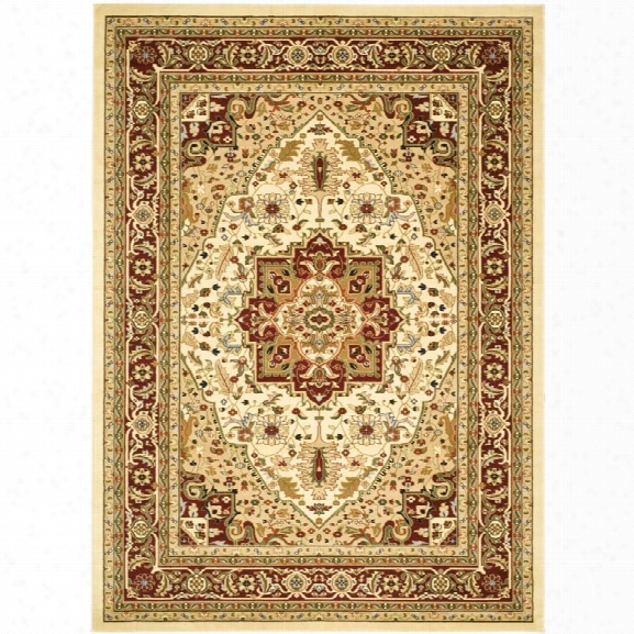 Safavieh Lyndhurst 11' X 15' Power Loomed Rug In Ivory And Red