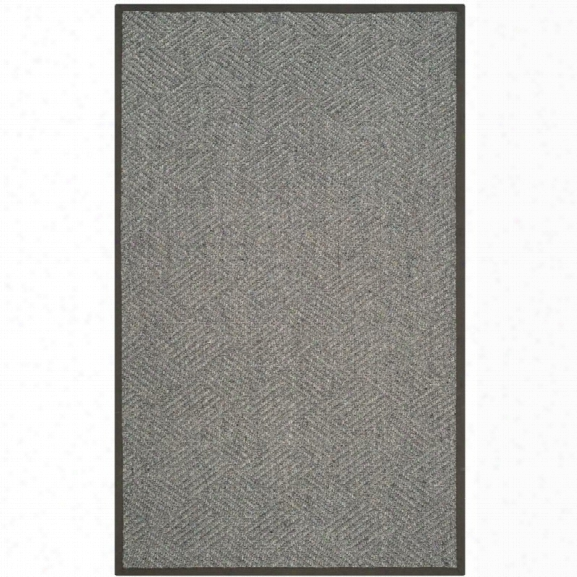 Safavieh Natural Fiber 9' X 12' Hand Woven Rug In Gray And Dark Gray
