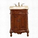 Elegant Lighting Danville 2 Door 24 Single Bathroom Vanity in Brown