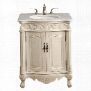 Elegant Lighting Danville 2 Door 27 Single Bathroom Vanity in White