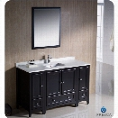 Fresca Oxford 54 Bathroom Vanity in Espresso-Livenza in Chrome