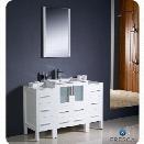 Fresca Torino 48 Bathroom Vanity in White-Versa in Brushed Nickel