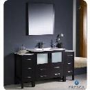 Fresca Torino 60 Bathroom Vanity in Espresso-Fiora in Chrome