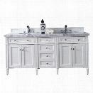 James Martin Brittany 72 Double Bathroom Vanity in White-3cm Snow White