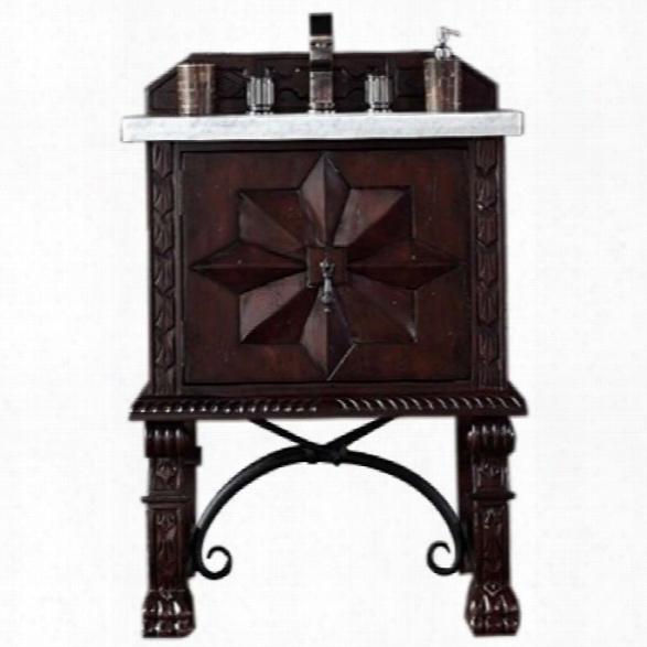 James Martin Balmoral 26 Single Bathroom Vanity In Antique Walnut-no Counteetop