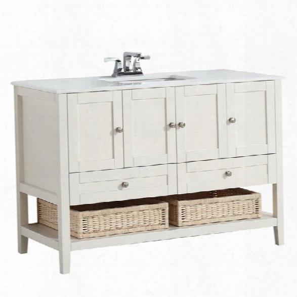 Simpli Home Cape Cod 48 Bath Vanity In Soft White